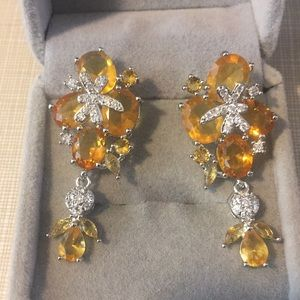 Jewelry - Most beautiful long citrine Elegant Earrings